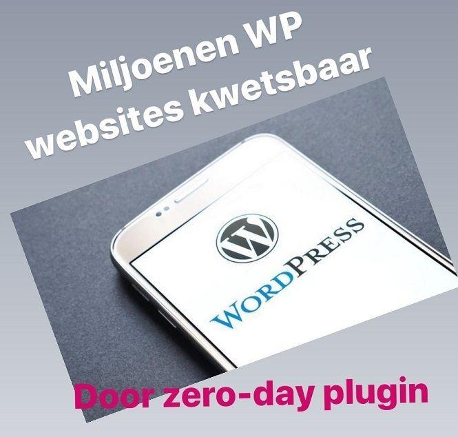 Miljoenen WordPress websites kwetsbaar